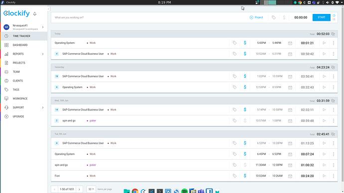 clockify-web-interface